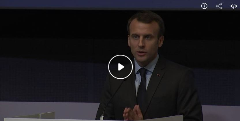 Emmanuel Macron, le 22 mars 2018 : «Il s'agit de s'engager dans une révolution des transports en convertissant les flottes de poids lourds au gaz» !