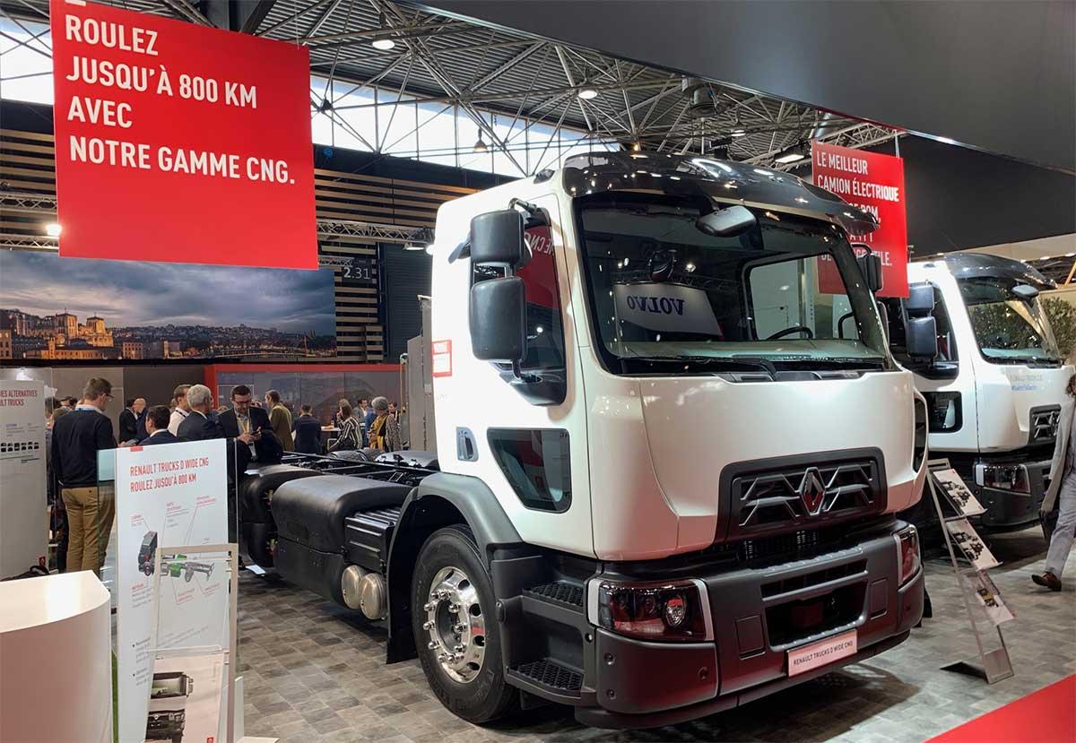 800 km d'autonomie pour le porteur GNC de Renault Trucks