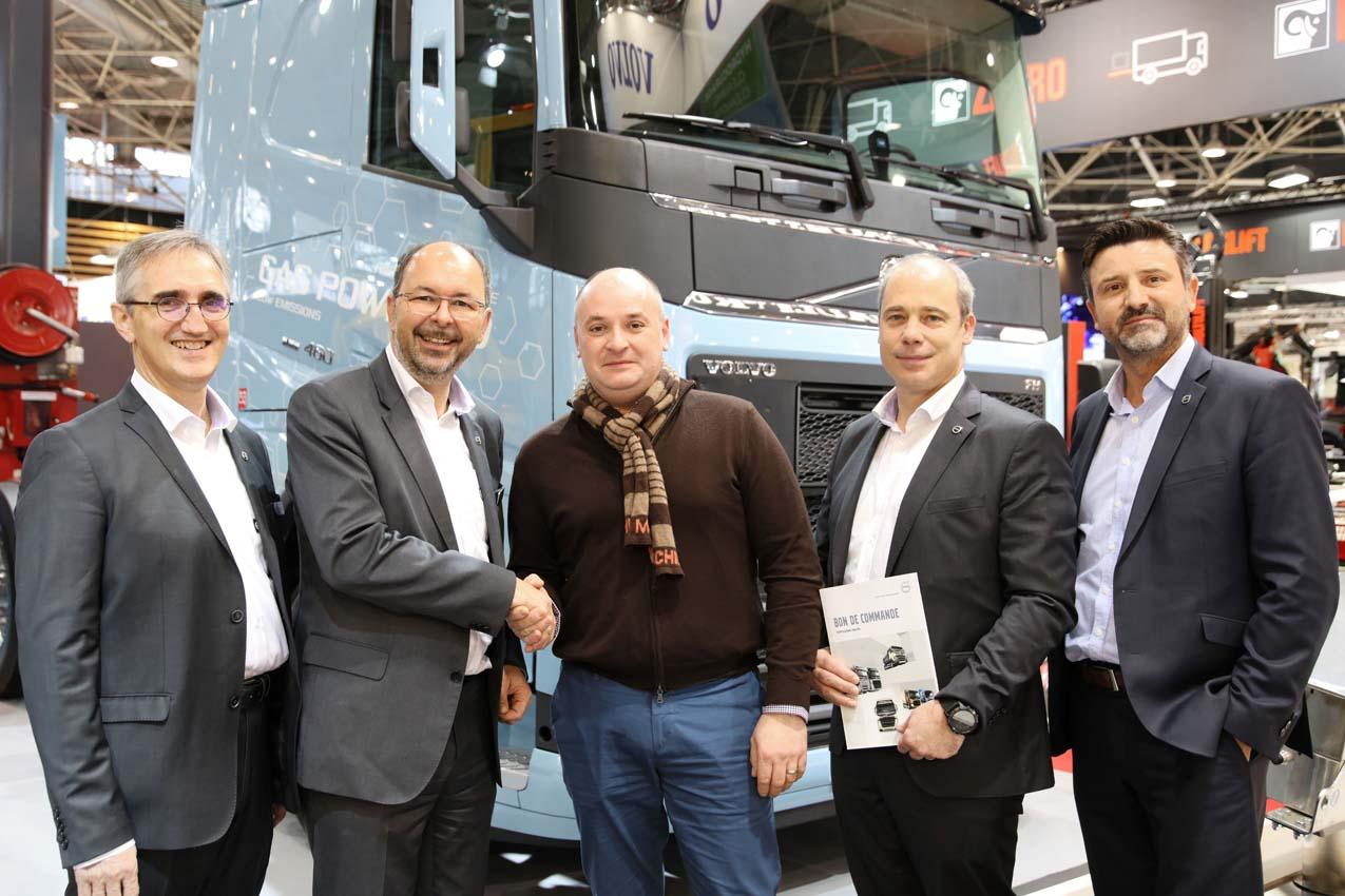 Les Transports Bonnand (69) choisissent d'investir dans le tracteur routier gaz avec Volvo Trucks
