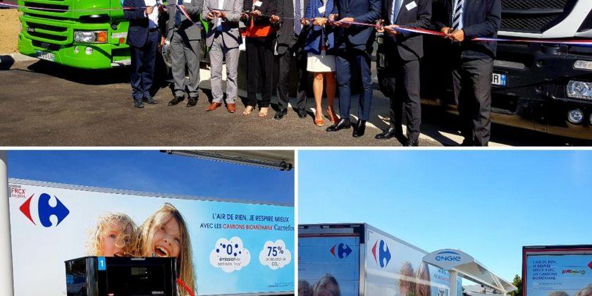 Carrefour et GNVERT ont inauguré la station de biométhane carburant (bioGNV) de Combs-la-Ville (Seine et Marne)