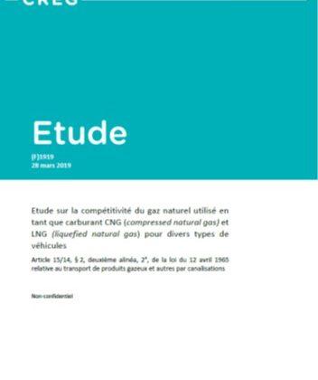La Commission de Régulation de l'Electricité et du Gaz Belge (CREG) vient de publier une étude sur l'intérêt économique et écologique de rouler au GNV en Belgique
