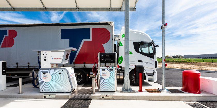 Nouvelle station multi-énergies propres d'Air Liquide à Gauchy dans l'Aisne