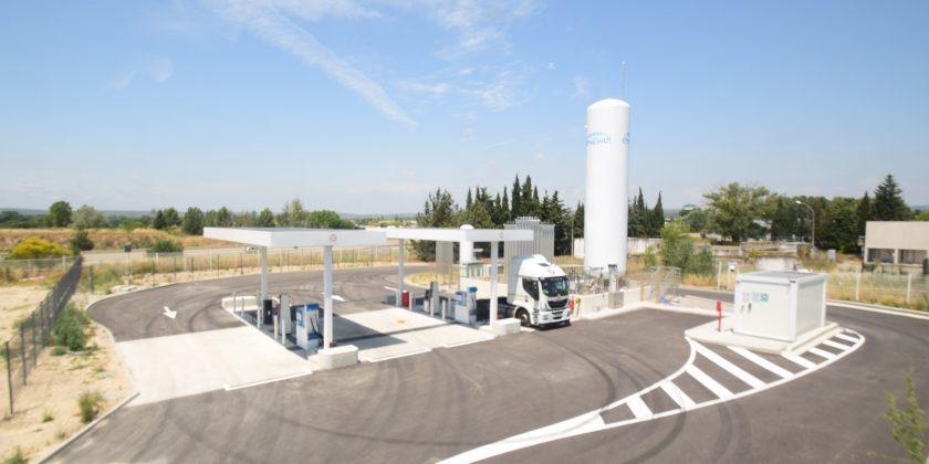 Ouverture d'une nouvelle station distribuant du GNL et du GNC-L à Aix les Milles (13)