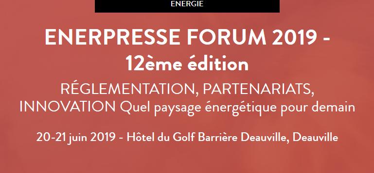 L'AFGNV interviendra lors du «ENERPRESSE FORUM 2019»