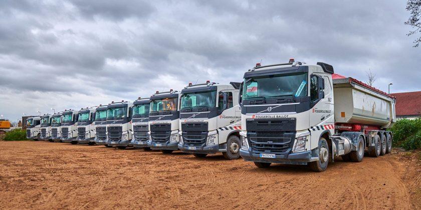 Pour le chantier du Grand Paris Express, Eiffage diminue son empreinte carbone avec l'acquisition de véhicules Volvo FH GNL