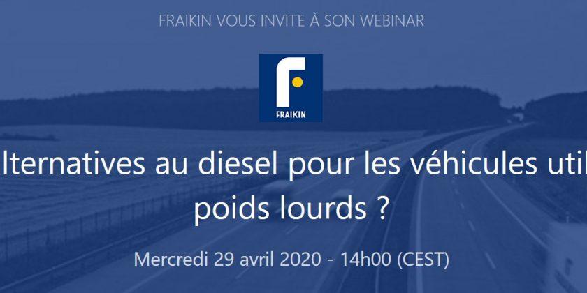 Fraikin innove et propose un «webinar» sur les carburants alternatifs le 29 avril 2020 !