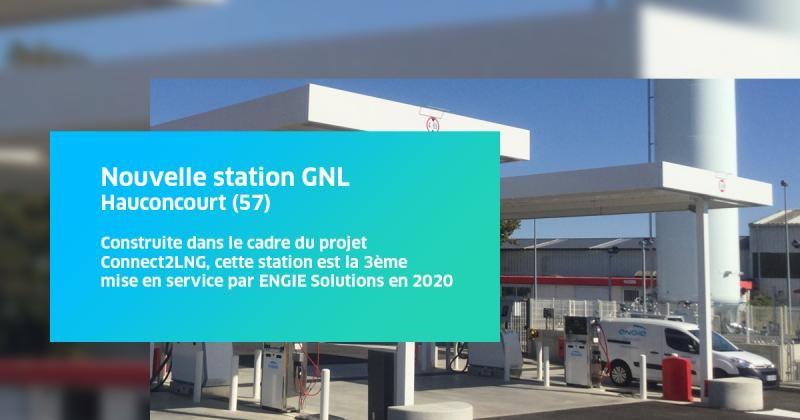 Ouverture d'une station GNL/GNC à Hauconcourt au nord de la ville de Metz
