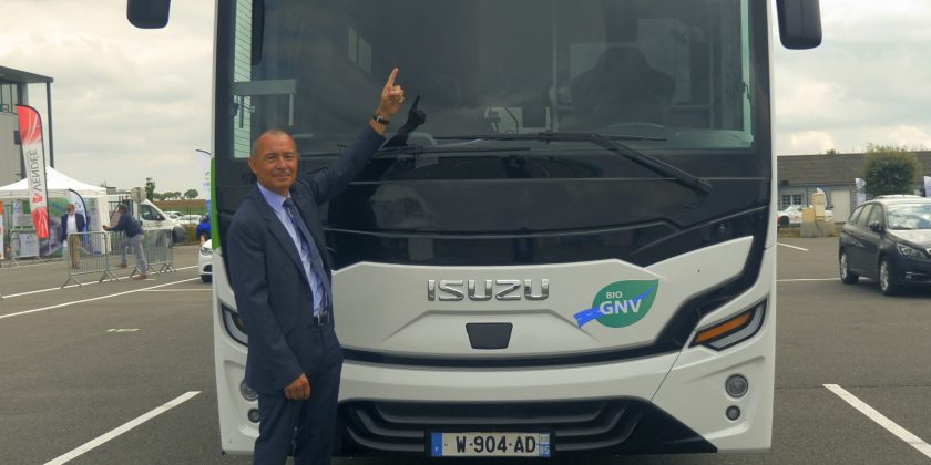 Jean-Claude Girot présente KENDO, le car ISUZU GNV