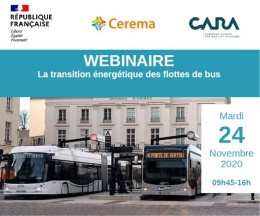Le 24 novembre 2020, Webinaire sur la transition énergétique des flottes de bus