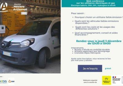 Le 3 décembre 2020, Web conférence sur les véhicules utilitaires électriques et gaz