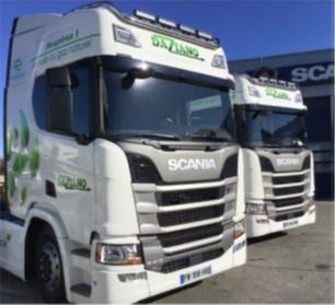 Des Scania au gaz pour les Transports Daziano