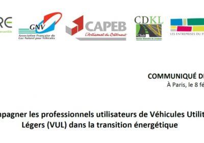 Pour accompagner la mutation vers des énergies décarbonées, les professionnels demandent la revalorisation du PTAC à 4,5 tonnes pour les véhicules propres