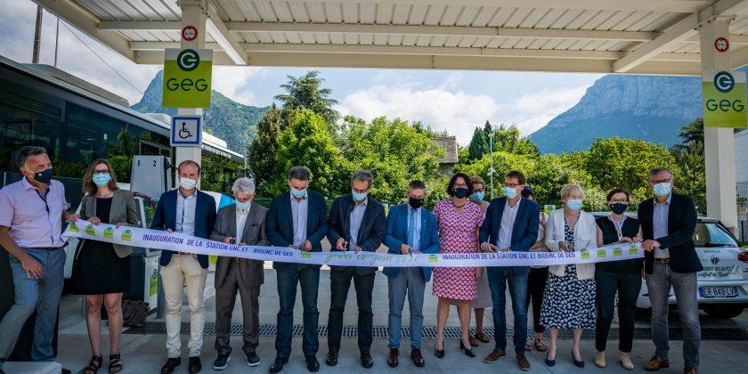 Le 11 juin 2021, GEG a inauguré sa nouvelle station GNC et BioGNC A SAINT-EGREVE