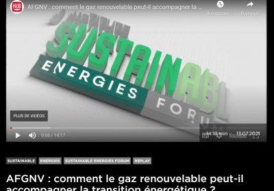 Sustainable Energies Forum : «Le bioGNV, un carburant renouvelable qui se développe dans l'indifférence»