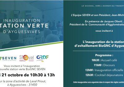 SEVEN inaugure une station d'avitaillement BioGNC à Ayguesvives (31450)